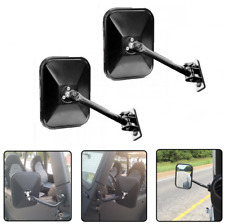 2X Quick Release Mirror Side Mirror For 1997-16 Jeep Wrangler TJ Rear 391102512