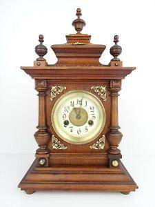 JUNGHANS German Castle Antique Mantel Shelf Clock 8 day 1920s