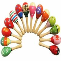 Baby Toys Wooden Rattle Cute Mini Sand Hammer Maracas Musical Instrument Toys+%