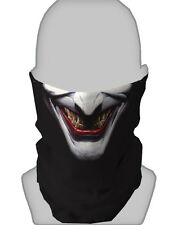 BRAGA DE CUELLO DISEÑO JOKER BLANCO HALLOWEEN BUFANDA MÁSCARA PAINTBALL