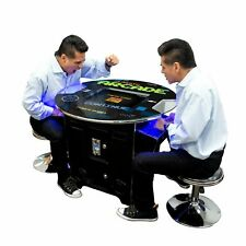 Round Top Pub Table Retro Short Arcade 60 Games Pac Man Stools & Freight