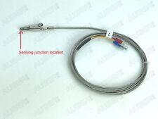 J Type Thermocouple temperature probe w/ alligator clip tip, powder coating oven