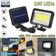 US 100LED Solar Power PIR Motion Sensor Outdoor Garden Light Security Flood Lamp