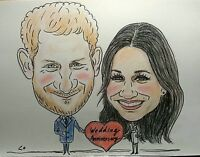 Personalised Caricature of two people in Colour have your Happy Wonderful gifts