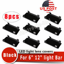 "8x 6'' Snap On Black Lens Cover For LED Light Bar Offroad 50"" 48"" 42"" 30"" 24"""