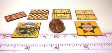 3015# Faltbare Miniatur Spielbretter- 6 St - Puppenhaus Puppenstube - M 1zu12