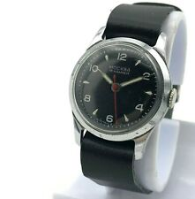 MOSKVA Vintage WW2 Style Black Dial Watch Men USSR Mechanical Mchz1 Moscow 1950s
