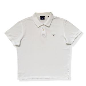 "Vintage GANT Polo Shirt | Size XL | White Short Sleeve 48"" Chest"