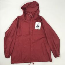 Misty Harbor Rain Coat Red Jacket With Cap Women's XL