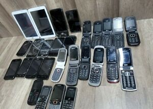 28 cell phones for parts or repair samsung LG for parts or repair