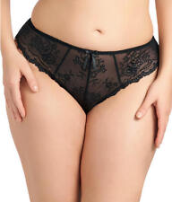 Elomi Maria Collection XL Black Lace Thong Panty New