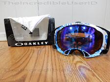 Oakley Splice Tagline Utility Blue Frame Blue Iridium Lens Snowboard Ski Goggles