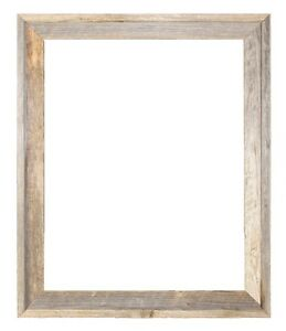 "16x20–2"" Wide Signature Reclaimed Rustic Barn Wood Open Frame No Glass Or Back"