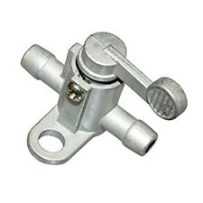 """UNIVERSAL FUEL TAP 6MM 1/4"""" VALVE PIPE SHUT ON/OFF INLINE MOPED MOWER MOTORCYCLE"""
