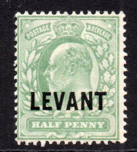 British Levant 1/2 Penny Stamp c1905-12 Mounted Mint Hinged (7872)