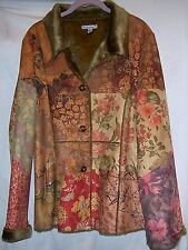 New No Tags HUGGING KISSES Faux Leather Patchwork Fake Fur Lined Jacket L Large
