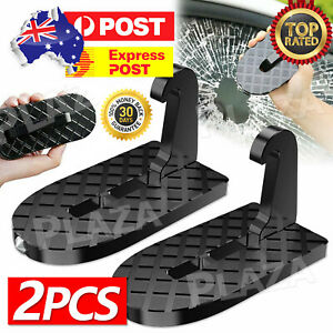 2pcs Doorstep Car Door Latch Step Foot Pedal Ladder For Jeep Truck Roof Folding