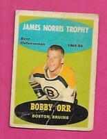 1969-70 OPC # 209 BRUINS BOBBY ORR NORRIS TROPHY FAIR CARD (INV# D7641)