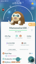 Pokemon Go  trading 40 Lv max Mamoswine with second charge move PVP MASTER🔥