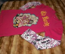 ED HARDY Girls kids size large  12  Pink t-shirt tee top