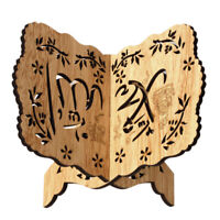 Wooden Book Stand Holder Quran Muslim Ramadan Allah Islamic Gift Bookends Decor