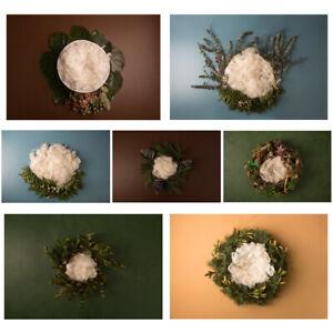 Newborn Vinyl Photography Background Cloth Flower Basket Baby Photo Props