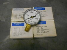 """Ashcroft Commercial Pressure Air Gage 1/4"""" NPT BRASS 1500 Psi  Model #1005PH"""