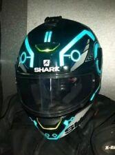 MOTORCYCLE TRON STYLE HELMET REFLECTIVE DECALS STICKERS RED BLUE WHITE HI VIZ RO