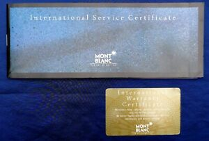 MONT BLANC INTERNATIONAL SERVICE WARRANTY CERTIFICATE BOOKLET & CARD TAFT'S 1993