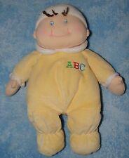 Baby Ganz Plush First Doll Yellow Sleeper ABC Soft Stuffed Toy