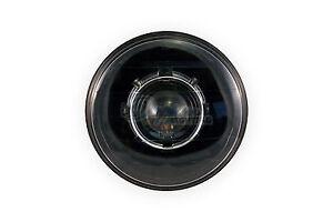 7 inch Round Diamond Cut Projector Headlight (LHD, Black) HID Kit for V2 Model