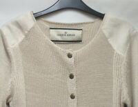 BY MALENE BIRGER CABLE KNIT ELBOW PATCH CARDIGAN RRP £350 SIZE M NET A PORTER