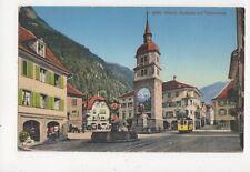 Altdorf Dorfplatz Mit Telldenkmal Vintage Postcard Switzerland 390a