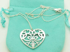 Tiffany & Co Enchant Heart Necklace, Sterling silver -New designer piece & pouch