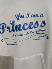 Jerzees Hooded Religious Sweatshirt Princess Adult Small