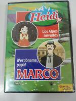 Heidi Los Alpes nevados - Marco Perdoname papa - DVD Español Nuevo