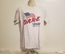 DARE To Resist Drugs and Violence Adult Large Cream TShirt American Flag