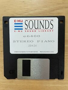 EMU e6400 Piano Samples Floppy Disk Sound Library RARE Vintage Synthesizer Synth