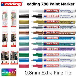 Edding 780 Paint Marker Pens, Extra Fine Nib, 0.8mm Bullet Tip,11 Colour Choice