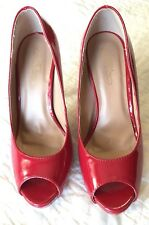 Journee Collection Women's 'Lowis' Round Peep-toe High Heels Red Size 7