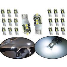 20PCS White Car LED Light T10 10SMD Wedge W5W 2825 158 192 168 194 LED Bulbs Set