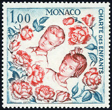 "MONACO N° 606 ""CHARTE DES ENFANTS, ONU, ALBERT ET CAROLINE 1 F"" NEUF xx TTB"