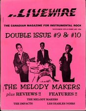 LIVEWIRE DOUBLE ISSUE 9 & 10 CANADA MAGAZINE INSTRUMENTAL ROCK DIABLES NOIRS