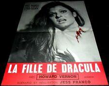 1972 La Fille de Dracula ORIGINAL FRENCH POSTER Jess Franco GRIM ART Daughter