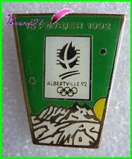 Pin's Jo Jeux Olympique Albertville le 16 Fevrier 1992  #B4