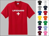Lifeguard With A Cross Swimming Pool Beach Rescue Funny T-shirt