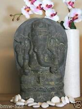 Ganesha auf Sockel Dekoration Buddha Skulptur Buddhismus Hinduismus Steinguss