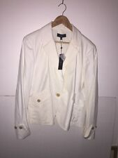 TALBOT'S grace fit jacket blazer lined SIZE 18 CREAM WHITE NWT $169