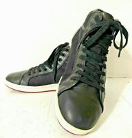 Polo By Ralph Lauren Trevose Mid Hi-Top Black Leather Sneakers Shoes - Size 12 D