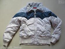Levi's® Daunen Jacke Steppjacke Gr. L, Blau-Weiß ! warme Daunenjacke, RETRO !